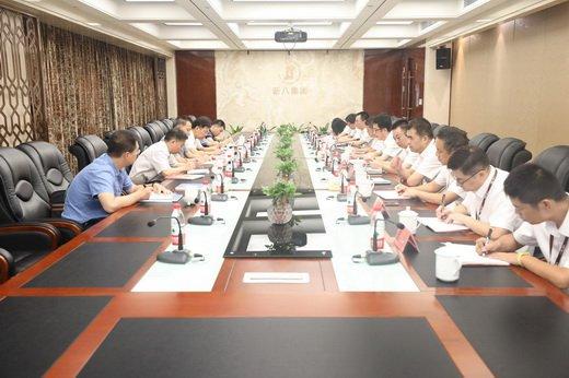 武汉市委常委、副市长李有祥莅临新八集团调研指导工作